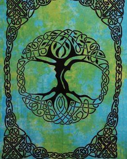 Renaissance Fest Tapestries - Green Celtic Tree of Life